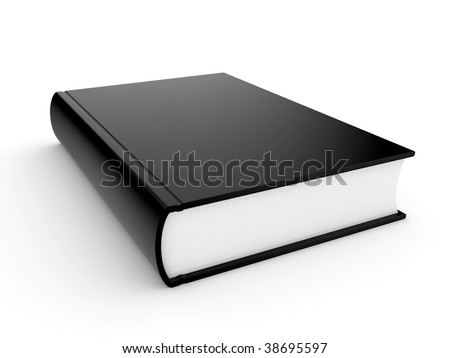 The three-dimensional book in hardcover on a white background