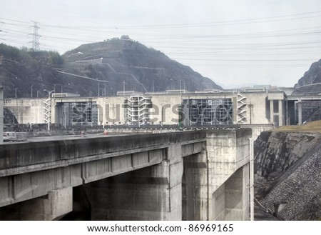 the Three Gorges Dam at Yangtze River in China