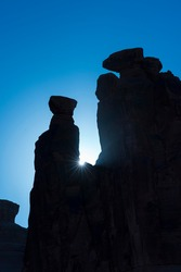 The Three Gossips, Arches National Park, Colorado Plateau, Utah, Grand County, Usa, America