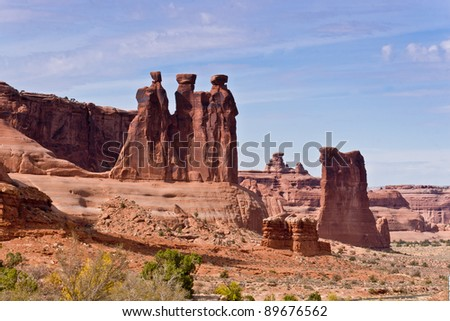 The Three Gossips. Arches National Park, Utah, USA