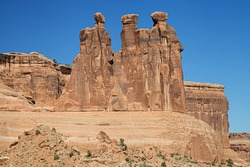 The Three Gossips in Arches National Park, Utah, USA.