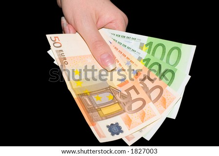 The three hundred euro in hand