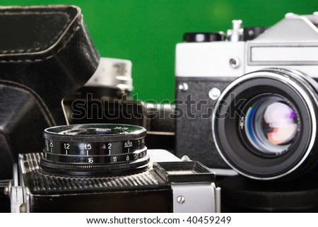 the three old cameras