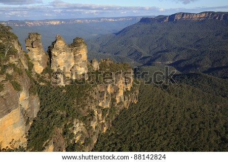 The Three Sisters in Blue Mountains, New South Wales, Australia
