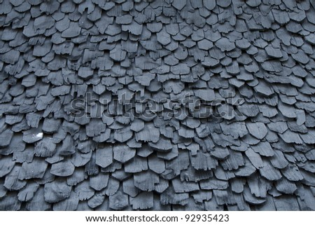 The  tiles wood of roof