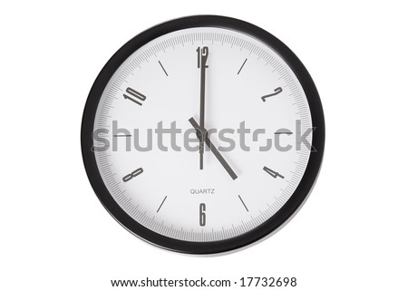 The time is 5 o`clock