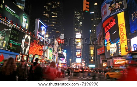 new york city time square at night. Times Square in New York