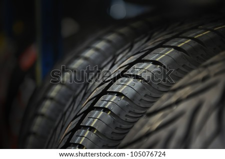 The tire tread. Conceptual background.