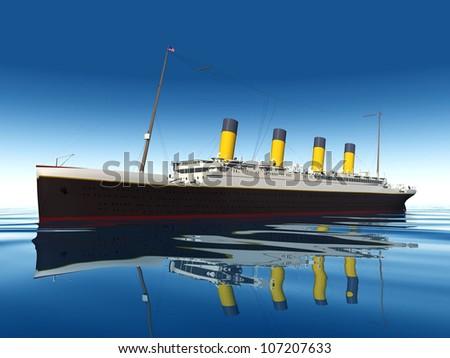 the titanic - stock photo