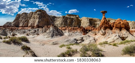 The Toadstool Trail leads to an area of hoodoos and balanced rock formations created by centuries of erosion and is part of the Grand Staircase-Escalante National Monument in Kane County, Utah. Stock photo ©