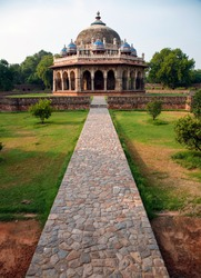 The tomb of the noble Isa Khan Niazi is located in the Humayun's Tomb complex in Delhi, India. The mausoleum, octagonal in shape was built in 1547–1548 during the reign of Sher Shah Suri.