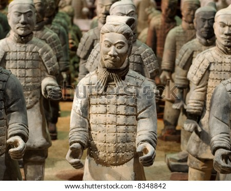 The Tomb Warrior Statues of the Chinese Qin Dynasty protect their emperors.