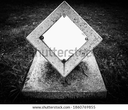 the tombstone or mini monument Stock fotó ©