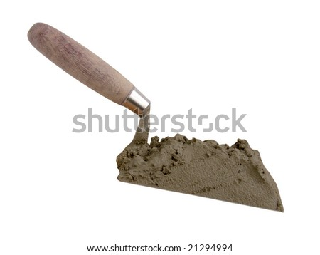 The tool of the builder of the mason a shovel - stock photo
