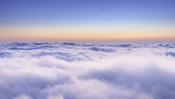 The top of the mountain the sea of clouds