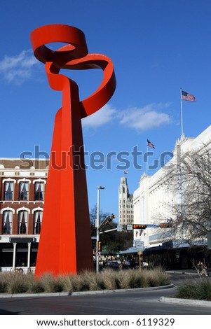 The Torch of Friendship in downtown San Antonio, Texas.