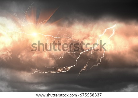 The tornado alley in the US - hurricanes and cyclones, frequent powerful terrible winds and torrential downpours, a national disaster and a climate disaster with extreme accidents #675558337