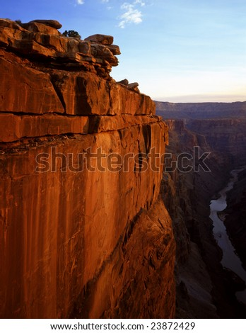 The Toroweap View of the Grand Canyon in Grand Canyon National Park, Arizona.