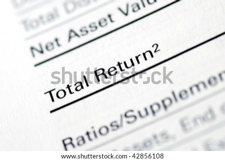 The Total Return section from a mutual fund report