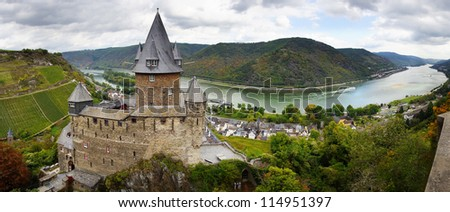 """The tourist route""""Castles of the Rhine"""". Bacharach, Germany"""
