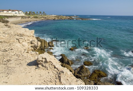 The touristic coast of Paphos, Cyprus