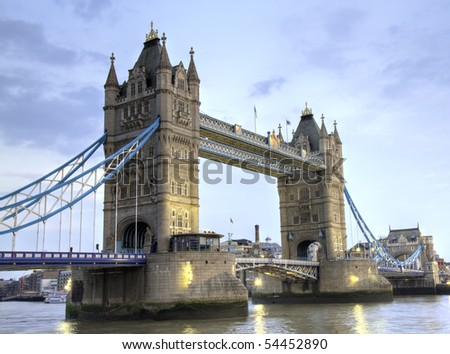 The Tower Bridge of London in the late afternoon, London, England
