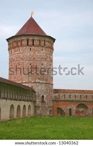 The tower of a monastery in Suzdal, Russia