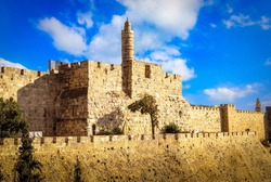 The Tower of David, also known as the Jerusalem Citadel.