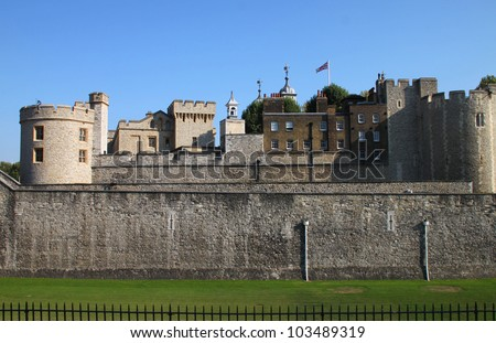 The Tower of London, Medieval Castle and Prison, England
