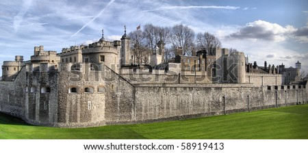 The Tower of London, medieval castle and prison - high dynamic range HDR