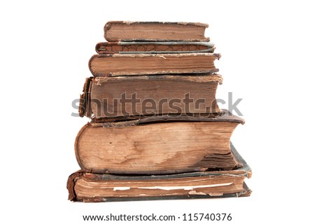 The tower of the old books of the 19th century