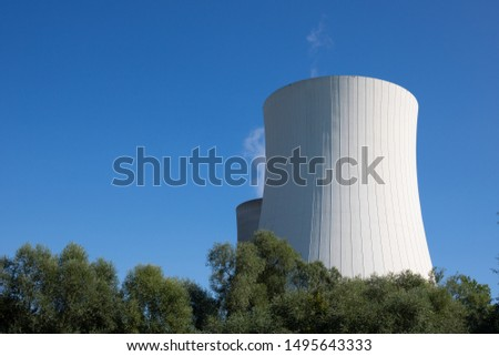 the towers of a nuclear power plant