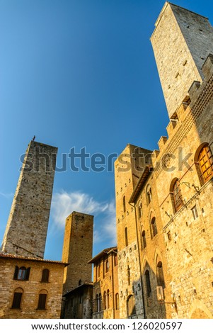 The towers, San Gimignano, medieval village, Tuscany, Italy