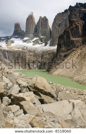 The towers, Torres del paines NP landscape, Chile