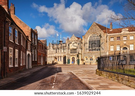 The Town Hall and Trinity Guildhall, Kings Lynn, Norfolk, England, UK.