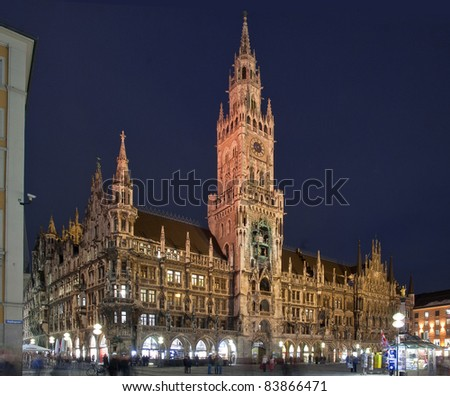 The town hall of Munich Bavaria, Germany