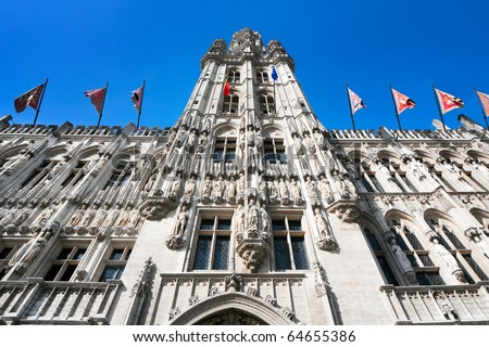 The Town Hall of the City of Brussels is a Gothic building from the Middle Ages.
