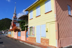 the town les anses-d'arlet in martinique, caribbean