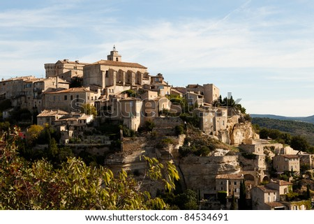 The town of Gordes in Provence, France. - stock photo