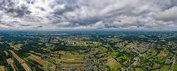 the town of Jastrzębie Zdrój in Silesia in Poland from a bird's eye view