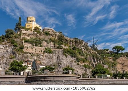 The town of Vietri Sul Mare at the Amalfi Coast, Campania Region in Italy  Foto stock ©