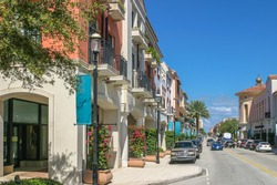 The town scape of West Palm Beach, Florida