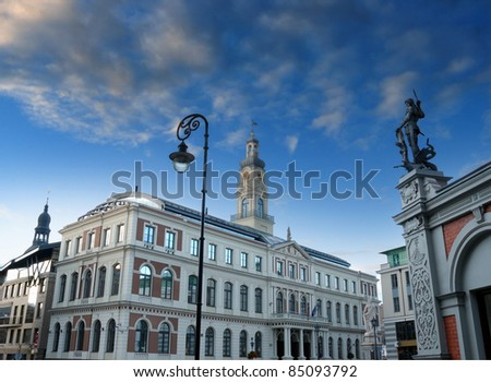 The townhall in Riga, Latvia.