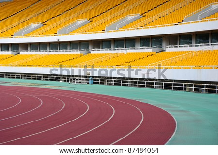 The track stadium - stock photo