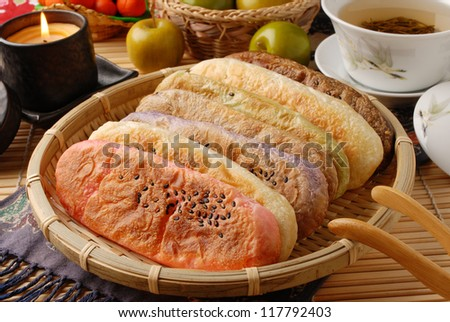 The traditional cake with the shape of ox tongue