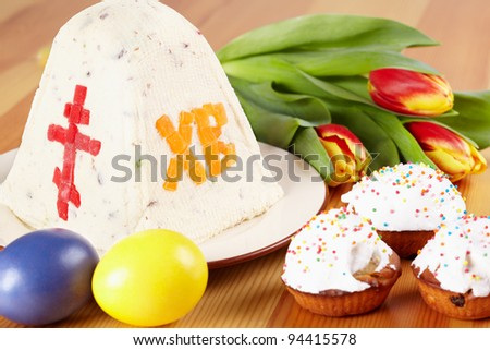 The traditional Easter table