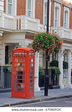 The traditional old London street
