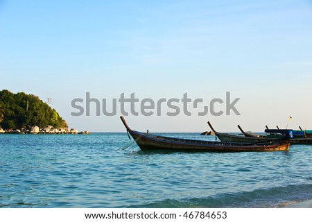 The traditional Thai longtail boat, Koh Lipe, Thailand.