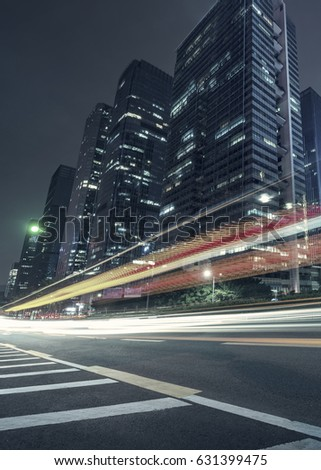 the traffic light trails of city #631399475
