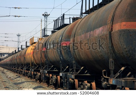 The train transports oil
